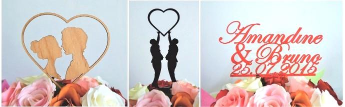 Figurine Topper gateau mariage 7M DESIGN